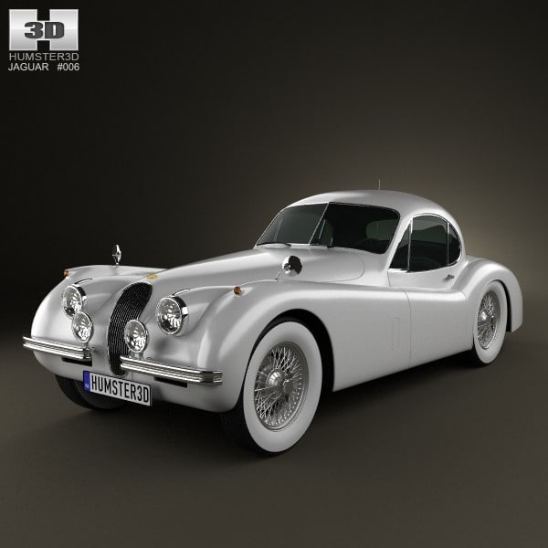 coupe xk120 xk 3d model