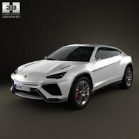 3d lamborghini urus 2012 model