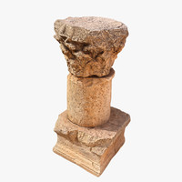 3d model historic column printing