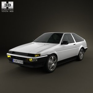 3d model of toyota sprinter trueno