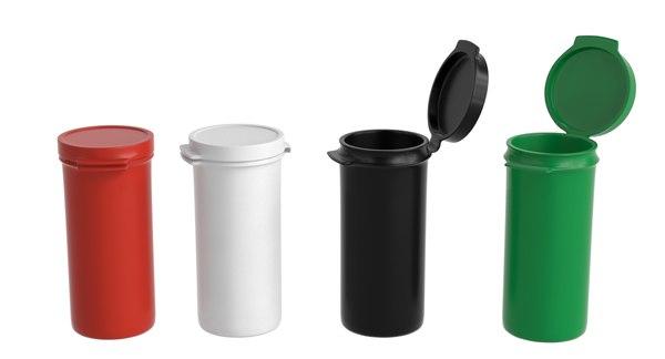 3ds medicine plastic hinged lid
