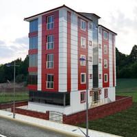 5-storey building 3d max