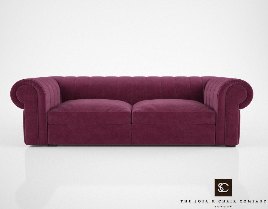 sofa chair company renato 3d model
