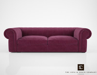sofa chair company renato 3d model