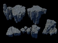 3d model mountain rocks stone