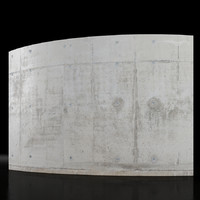 Concrete wall 5m long