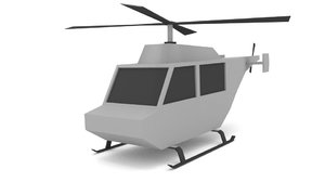 3d blender helicopter