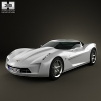 concept chevrolet stingray 3d max