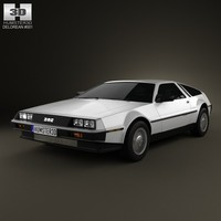 3d delorean dmc 12 model