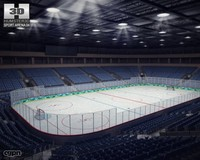 hockey arena 3d model