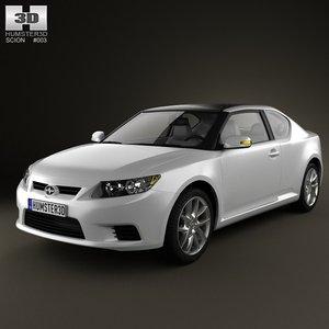 scion tc 2012 3d model
