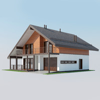 shale style house 3d max