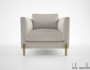 kelly wearstler melange club chair 3d model