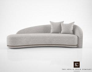 sofa chair company mouna 3d model