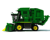 john deere cotton picker obj