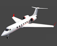 gulfstream aeroplane business jet 3d model
