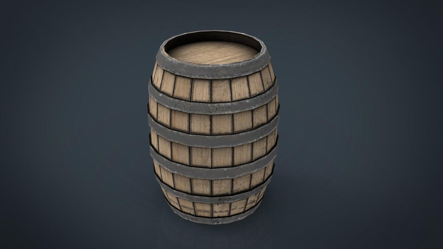 3d obj barrel