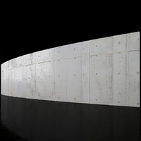 Concrete wall 18m long