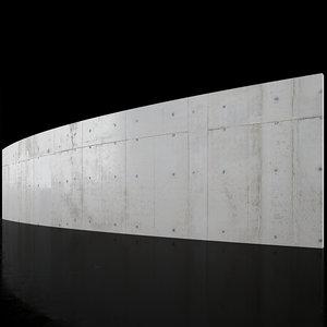Concrete wall 18m long