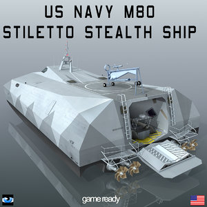 navy m80 stiletto stealth ship 3d model