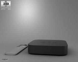 3d model of tv apple
