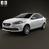 fiat viaggio 2013 3d model