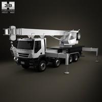 iveco trakker crane 3d 3ds