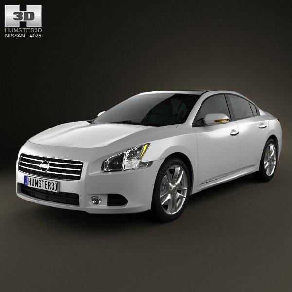 3d model nissan maxima 2012
