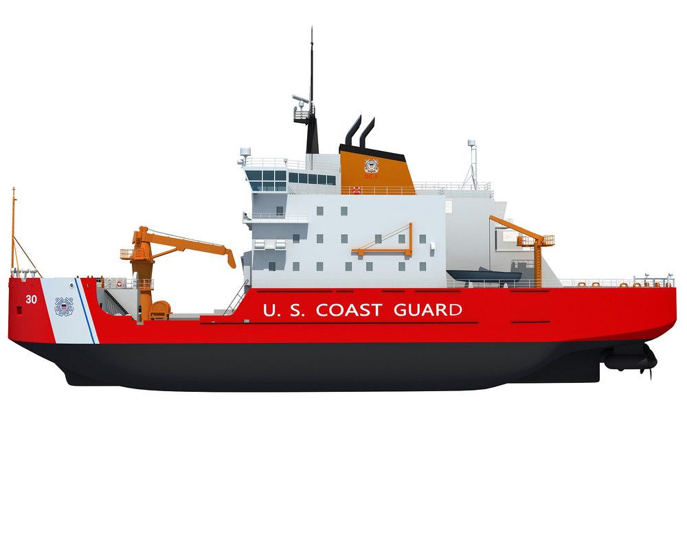 coast guard icebreaker 3d 3ds