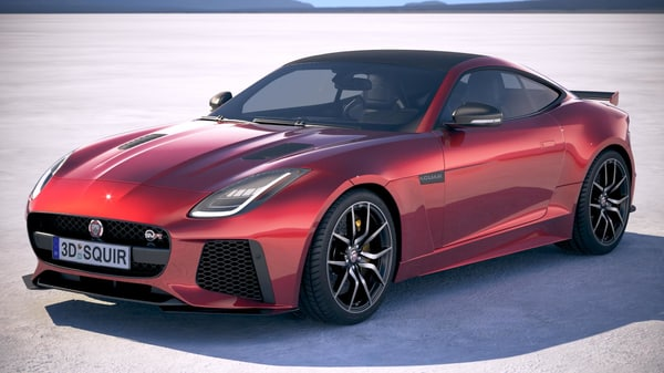 3d 3ds f-type coupe svr