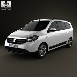 3d model dacia lodgy 2012