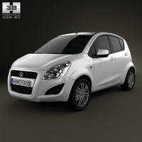 suzuki splash ritz 3d model