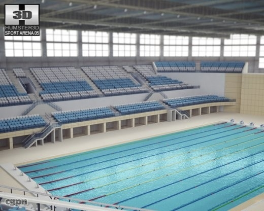Low Poly Olympic Swimming Pool 3D Models for Download | TurboSquid