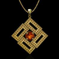 3d stl pendant gold model