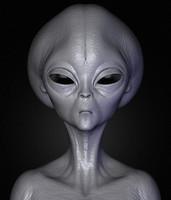 3d realistic aliens sculpt