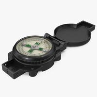 tourist compass 3d obj