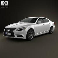 3d model lexus ls f