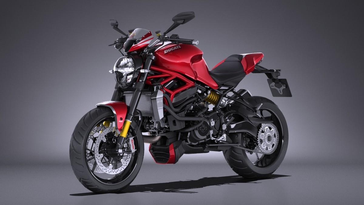 3d model ducati monster 1200r