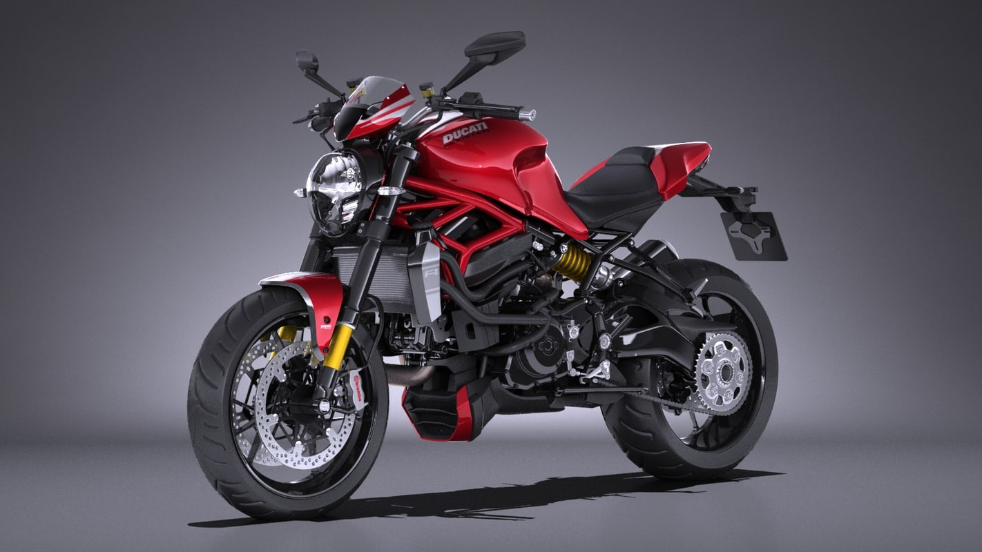 3d model ducati monster 1200r for Monster 3d model