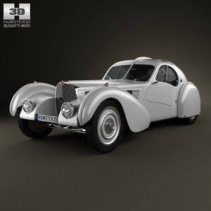 bugatti type 57sc 3d model
