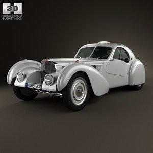 bugatti type 57sc 3d model