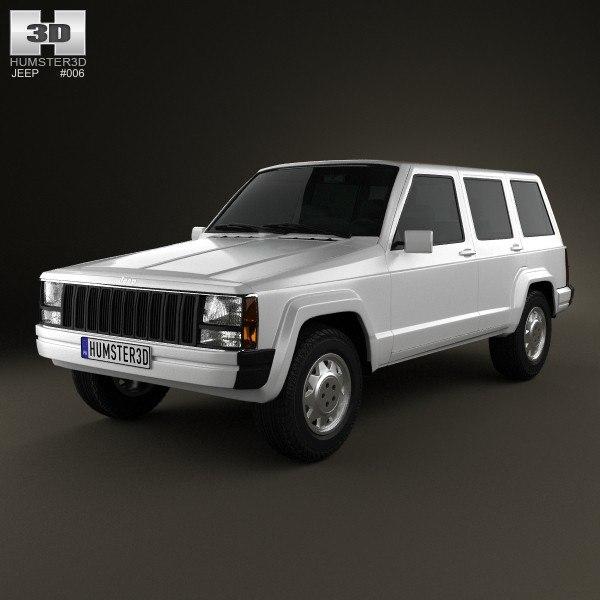 3d jeep cherokee xj model