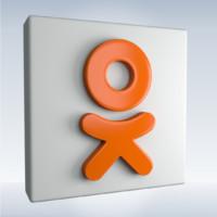 social icon ok 3d obj