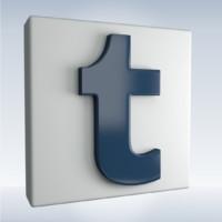 3d social icon tumblr model