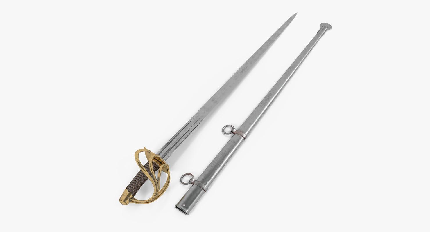 3ds heavy cavalry sabre sheath