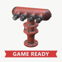 3d obj pbr industrial hydrant