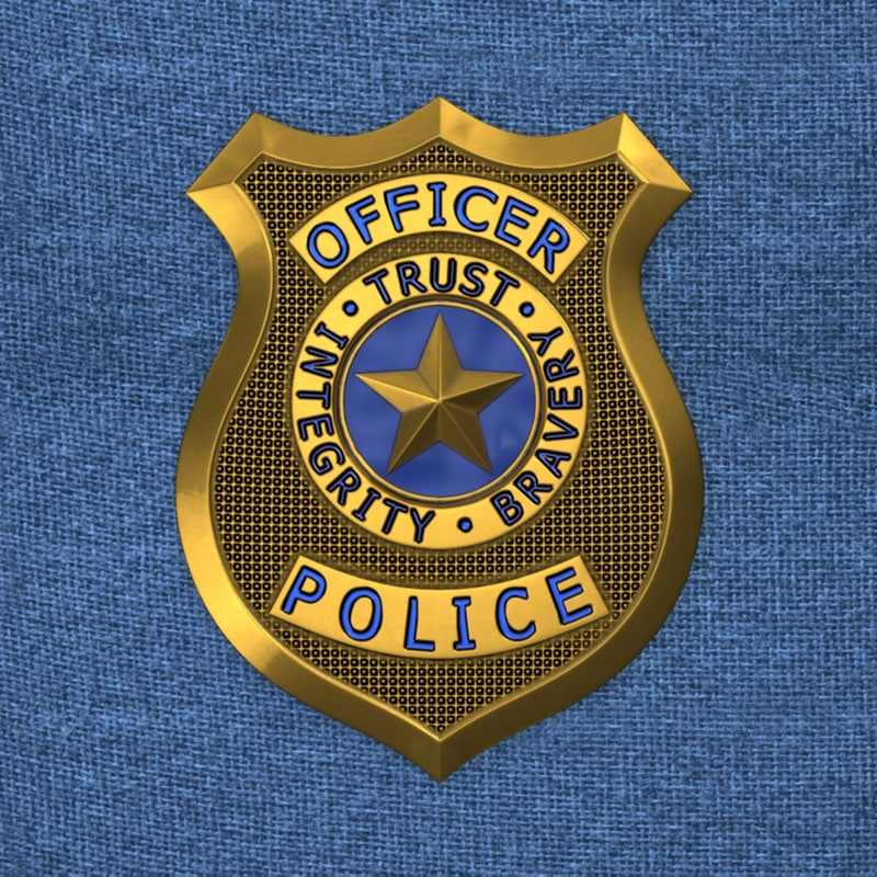 max police badge