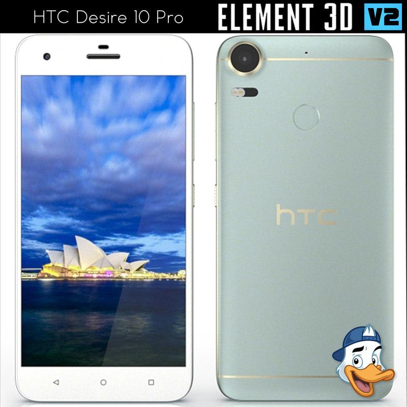 htc desire 10 pro 3d model