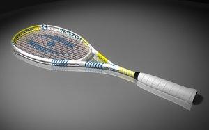 harrow squash racket 3d c4d