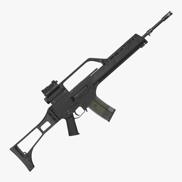 3d model assault rifle hk g36